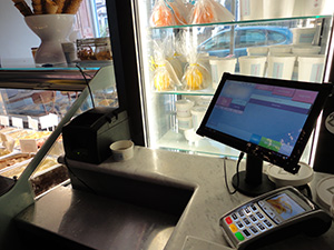Tablet EPOS Android food retail, takeaway food
